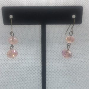 4 for $12: Pink bead earrings